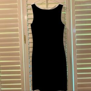 H&M Black Dress with White Back Cut-out